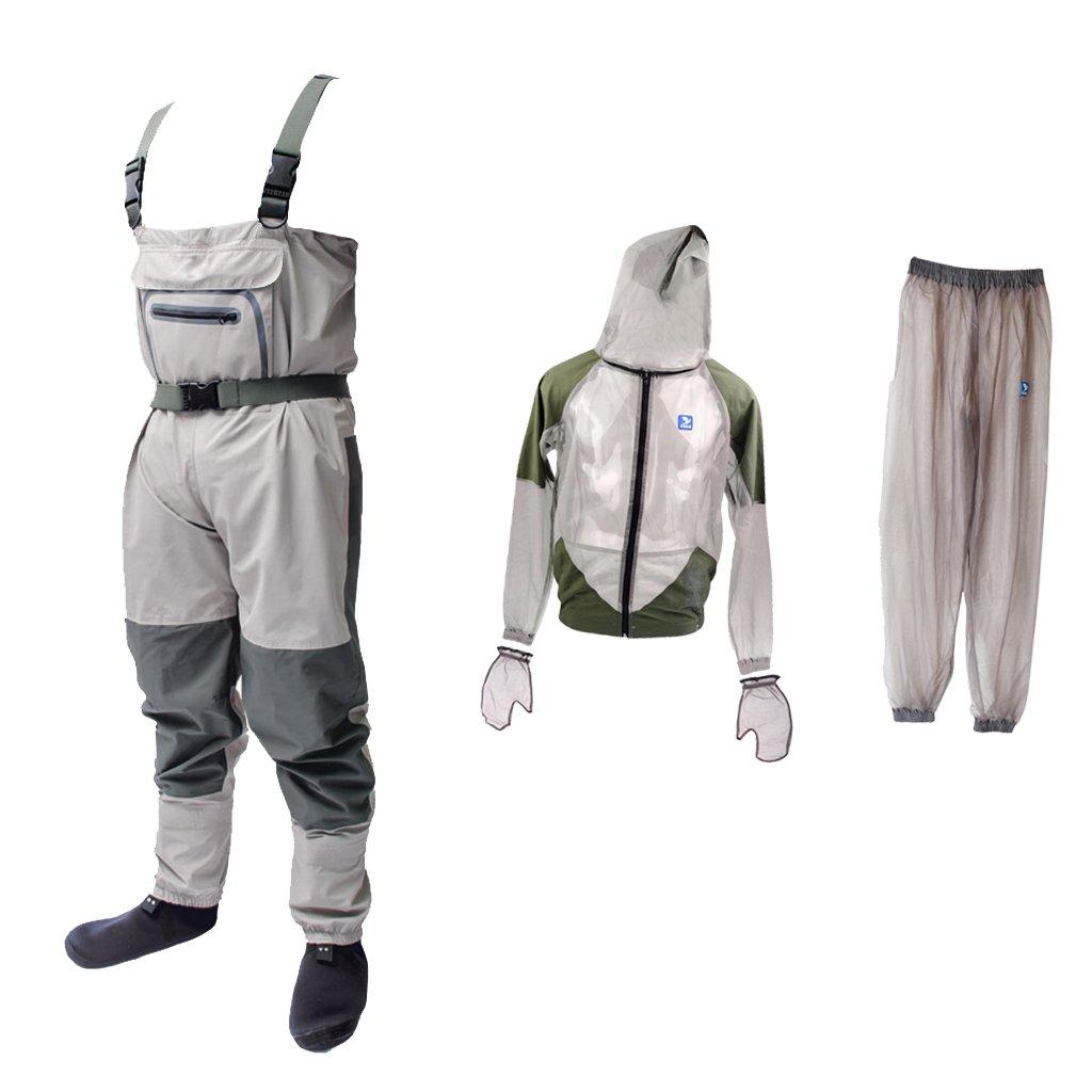 最愛 Jiliオンライン軽量ラバー釣りWader通気性Chest Wader + For anti-mosquito Fly Fishing + anti-mosquito BeeバグClothing Fishing Suitシンフード付きアウトドアワイルド釣り布XL B0711V4XBY, 新作モデル:df2ecc29 --- a0267596.xsph.ru