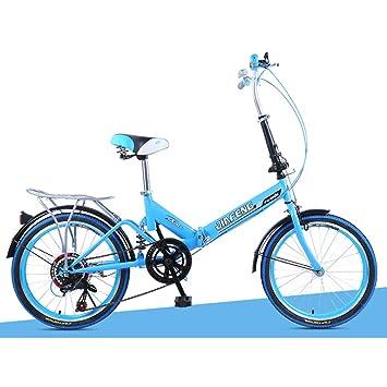 XQ XQ-TT-613 20 Pulgadas 6 Velocidad Bicicleta Plegable Amortiguación Bicicleta Hombres Adultos