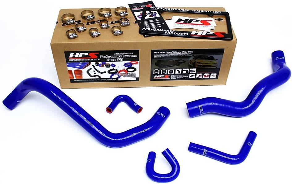 HPS 57-1401-BLK Black Silicone Radiator and Heater Hose Kit Coolant