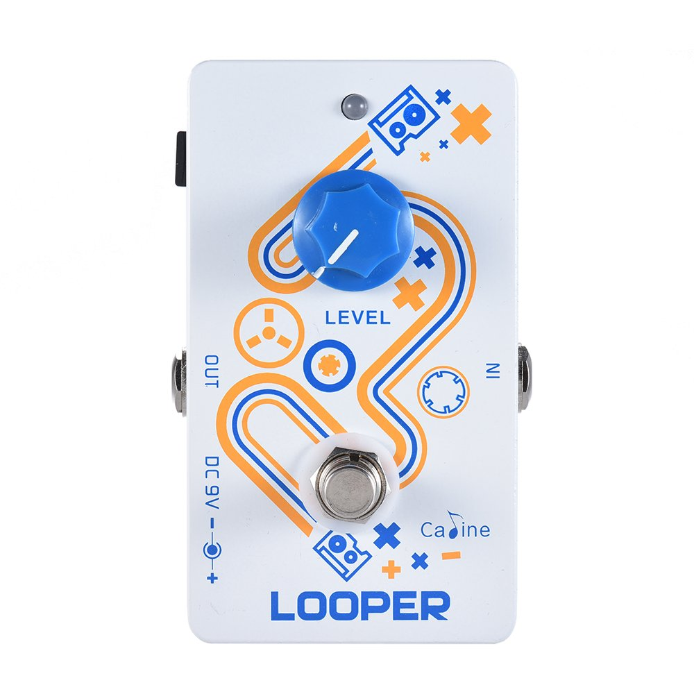 ammoon Caline Guitar Loop Pedal LOOPER 10 Minutes Recording Time Unlimited Overdub with True Bypass