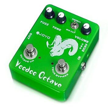 JF-12 Voodoo Octave Fuzz Effect Pedal de guitarra Eléctrico Bass Compresión dinámica: Amazon.es: Instrumentos musicales
