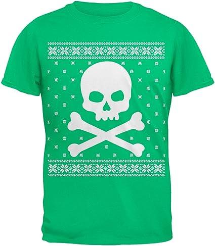 Old Glory Camiseta calabera Gigante FEA Navidad suéter Verde Juventud-Juventud X-Grande: Amazon.es: Ropa y accesorios
