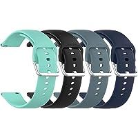 (4-pack) Tencloud bandjes compatibel met Umidigi Urun S/Urun/Uwatch 2S/3S/Uwatch2/Uwatch/LIFEBEE ID206/Letsfit EW1 riem…
