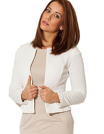 cf44986e0617 Femme Veste Courte Femmes Vestes Blazer Chic Casual Tailleur Elégante Veste-Boléro  Taille 36 38 40 42 (208)  Amazon.fr  Vêtements et accessoires