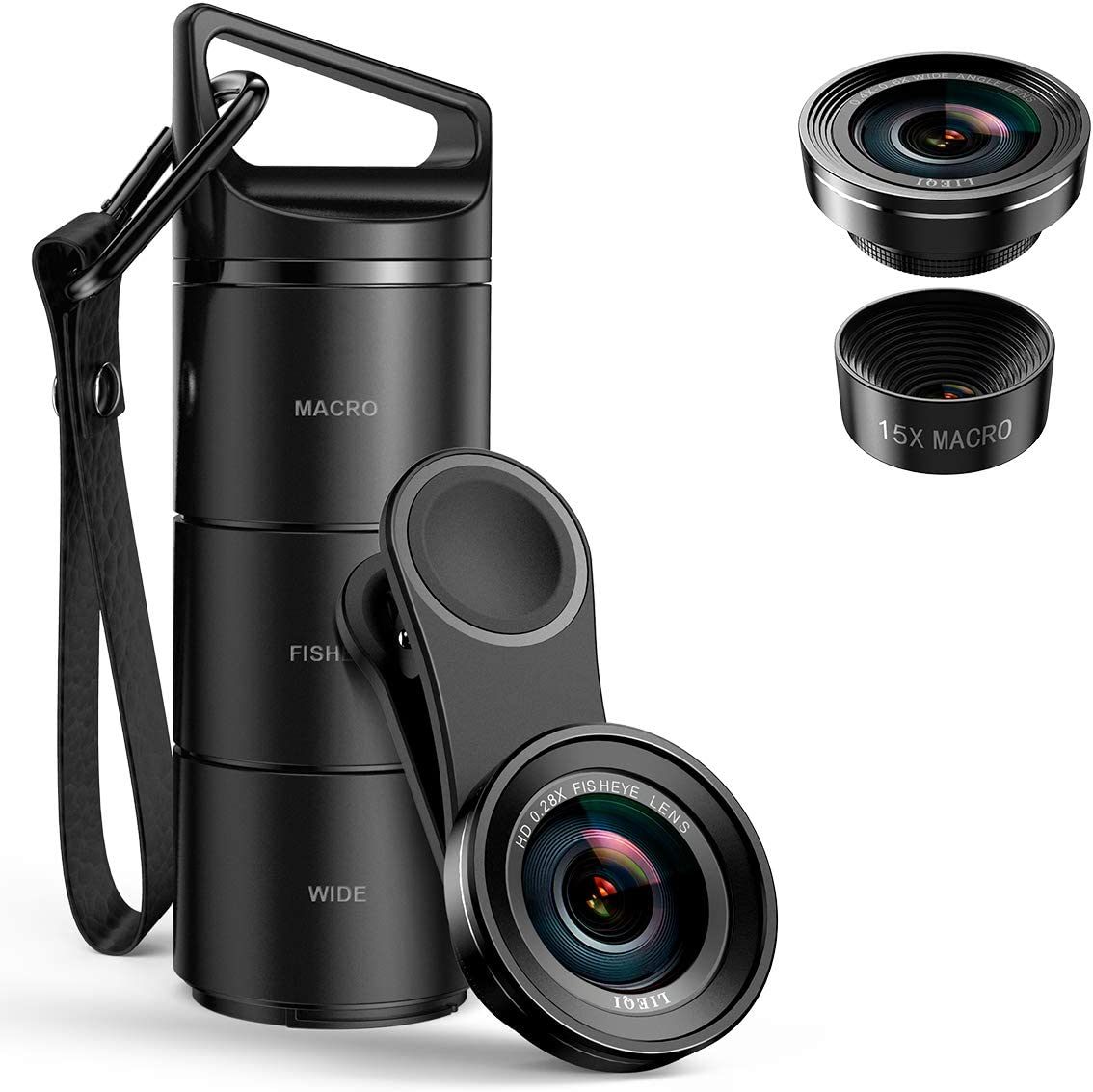 15X Macro Lens Video Chat Vlog etc 0.6X Wide Angle Lens 180/°Fisheye Lens 2020 New Upgraded 3 in 1 Cell Phone Lens Kit for iPhone Phone Camera Lens for TIK Tok Video Samsung Live Show