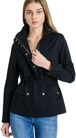 Women's Versatile Military Anorak Jacket - Utility Cargo Style Hoodie Jacket