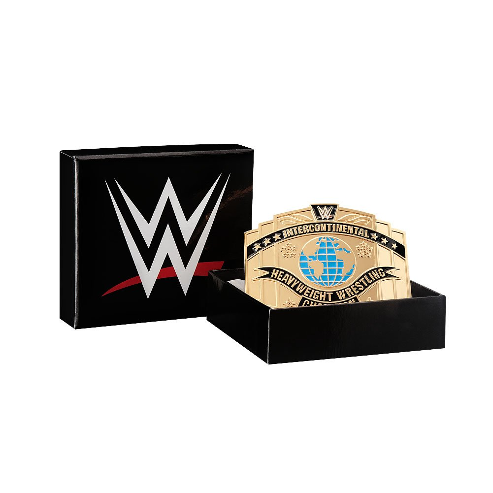 WWE Intercontinental Championship Belt Buckle Gold One Size