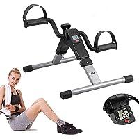 AGM Mini-hometrainer voor fiets, arm- en beentrainer, fitnesstrainer, mini-bike, hometrainer, bewegingstrainer met lcd…