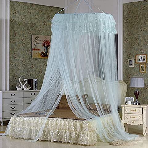 Lucy Fashion Princess Bed Canopy Mosquito Net Netting NEW Bedroom Mesh Curtains (Light green) - Bailey Bedding Canopy Top