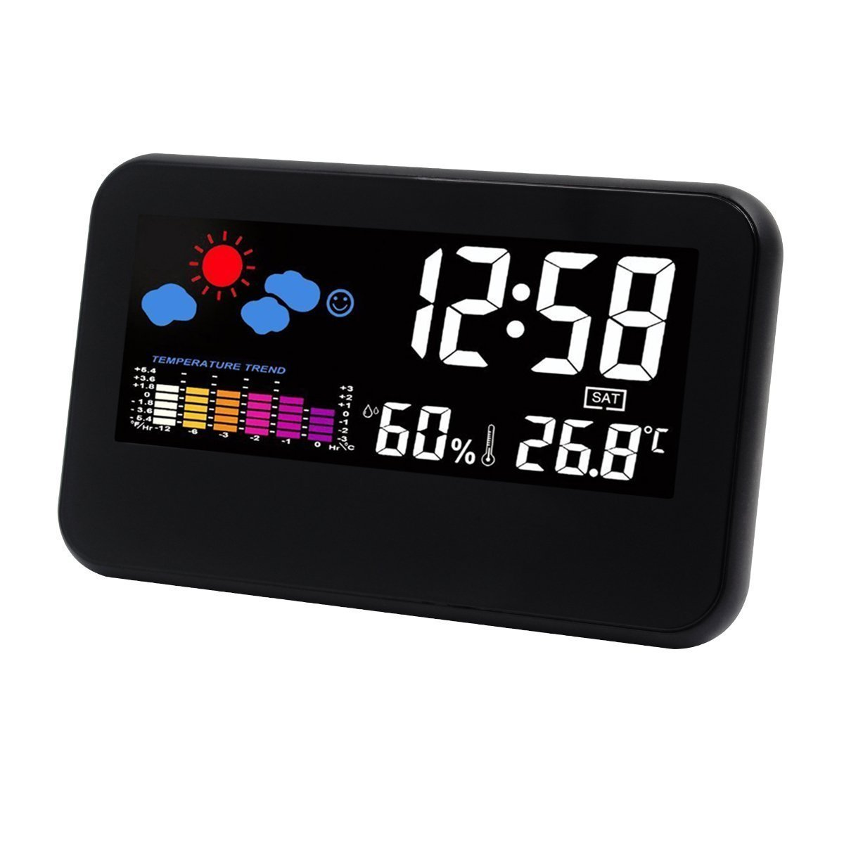 Buy BonZeal Digital LCD Desk Clock with Weather Station LED ...