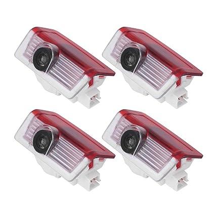 Luces LED de cortesía para coche, 4 unidades, proyector de luces ...