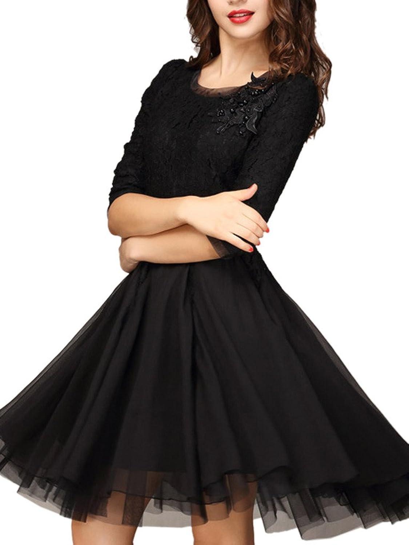 Choies Damen Spitze Panel Kleid