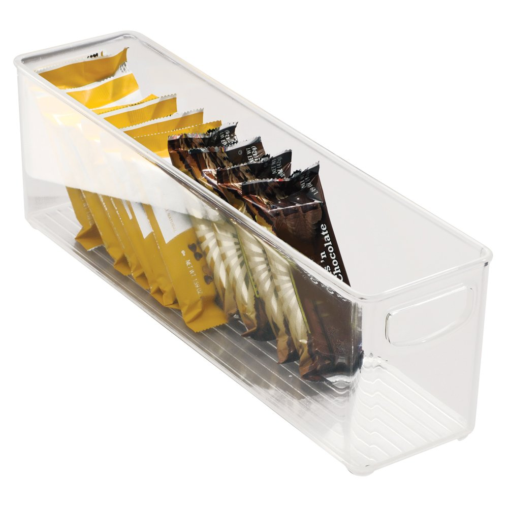 InterDesign Cabinet/Kitchen Binz Contenitore cucina, Grande e lungo organizer cucina in plastica, trasparente 64698EU armadio biancheria cassetto