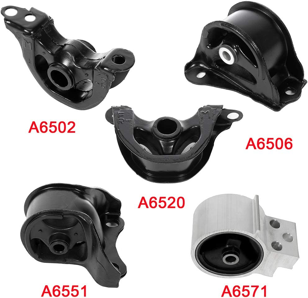 OCPTY Engine Motor and Trans Mounts A6551 A6506 A6502 A6571 A6520 5PCS Set Compatible with Acura Integra 1994 1995 1996 1997 1998 1999 2000 2001 2002 1.8L