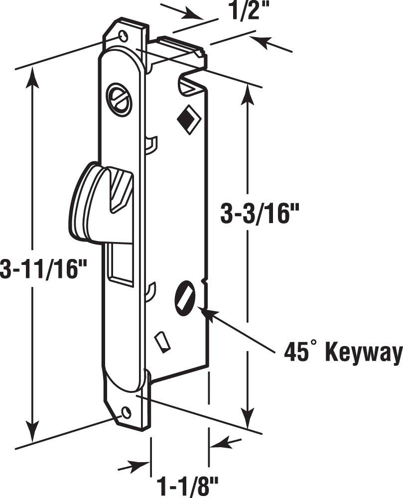 Prime Line E 2014 Mortise Lock Adjustable Spring Loaded Hook