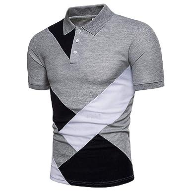 Laisla fashion Camisa De Polo para Hombre Solapa Básica De Verano ...