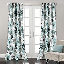 "Lush Decor Lush Décor Leah Room Darkening Window Curtain Panel Pair, 52"" x 84"", Blue"
