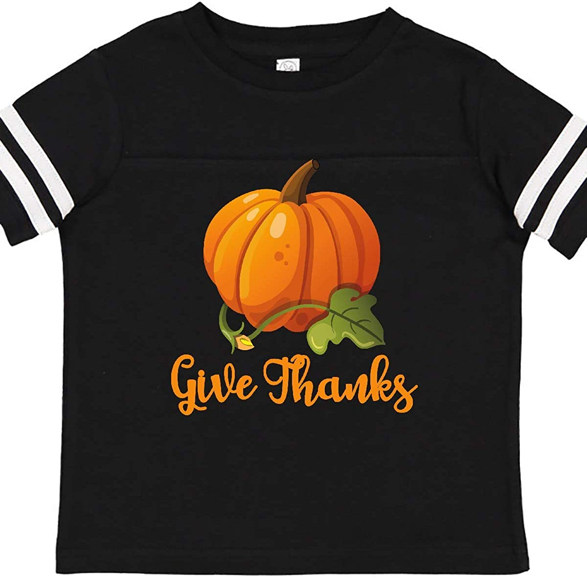 inktastic Give Thanks Pumpkin Toddler T-Shirt