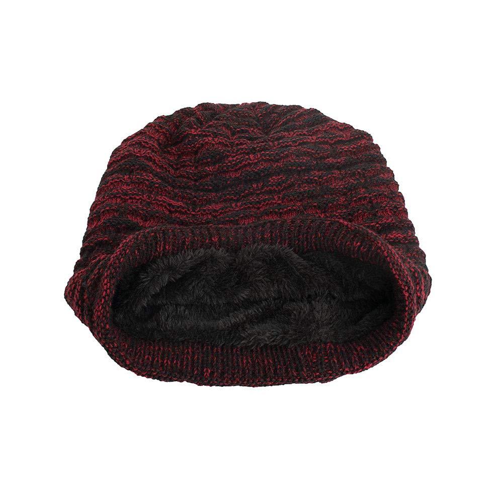Amazon.com  Farjing Knit Hat Clearance Sale Women Men Warm Baggy Weave  Crochet Winter Wool Knit Ski Beanie Skull Caps(Black  Clothing 707f76d885f