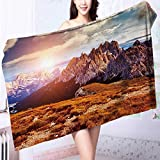 Quick-Dry Bath Towel Great view of the top Cadini di Misurina range in National Park Ideal for everyday use L55.1 x W27.5 INCH