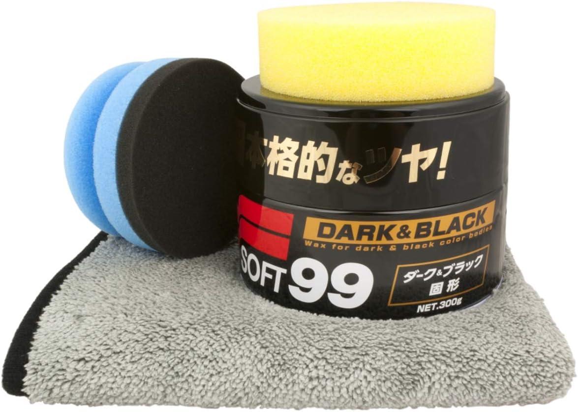 Soft99 Black Dark Wax Dft Auftragspuck Microfasertuch Auto