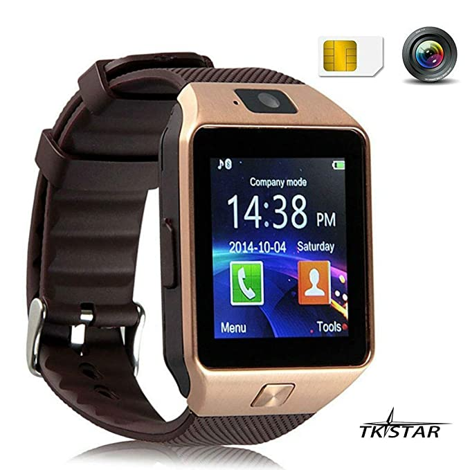 Reloj inteligente SmartWatch Bluetooth para teléfono con cámara y ranura para tarjeta SIM / SIM para teléfonos inteligentes Android de Android