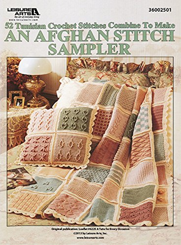 52 Tunisian Crochet Stitches to Make an Afghan Stitch Sampler ...