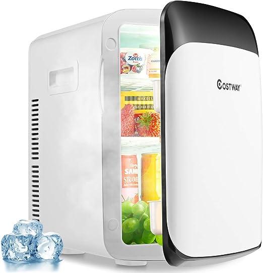 Costway 15l Mini Kühlschrank 2 In 1 Kühl Und Heizfunktion Kühler Wärmer 3 50 Tragbarer Kühltruhe Getränkekühler Fürs Auto Haushalt Elektro Großgeräte