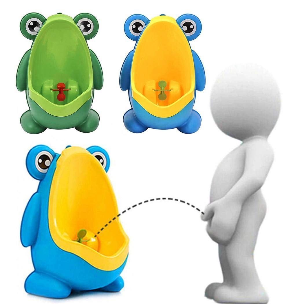 Baby Boy Frog Cartoon Wall-mounted Toilet Standing Urinal Sanitary Potty Trainer
