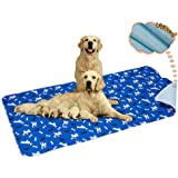 Yangbaga Washable Pee Pad for Dogs, Extra Large Non Slip Puppy Pad, Extra Thick Whelping Pad with Great Urine Absorption, Odo