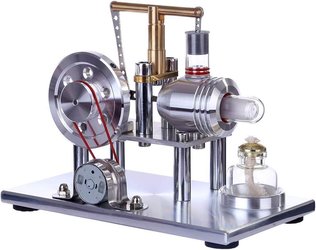 5V Heißluftmotor Heißluft Stirling Motor Dampfmaschinen Engine Modell Spielzeug