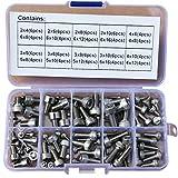 96Pcs M2 M3 M4 M5 M6 304 Stainless Steel Allen Hex Socket Head Cap Screws Bolt Assortment Kit