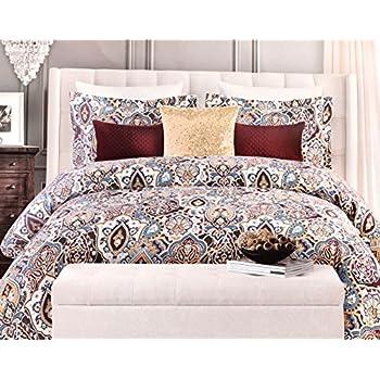 Amazon Com Tahari Bohemian Paisley Duvet Quilt Cover