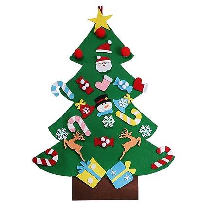 Tinksky Fai da te feltro albero di Natale con 26 pezzi ornamenti ...