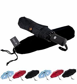 SY paraguas resistente al viento autom¨¢tico de viaje compacto ligero irrompible umbrellas-