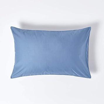 Chambray Pillowcase, Olive, 40 x 80 cm