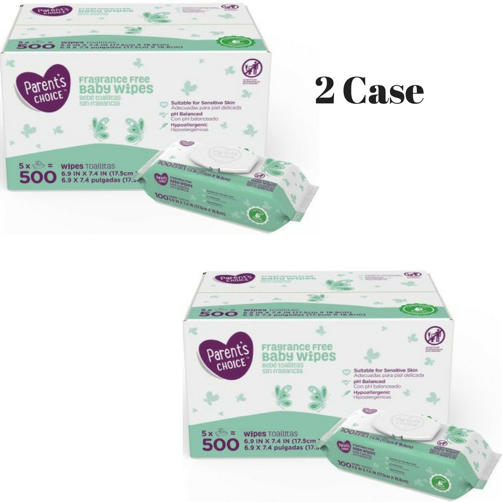 Amazon.com : Parents Choice Fragrance Free Baby Wipes, 500 count (5 packs of 100) : Baby