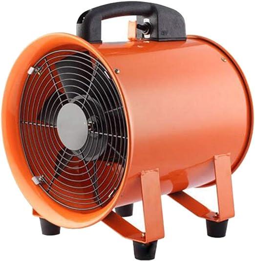 FAN GGCG Ventilador de ventilación de 12 Pulgadas Ventilador Ventilador Ventilador axial cilíndrico portátil Alta Potencia Industria doméstica: Amazon.es: Hogar