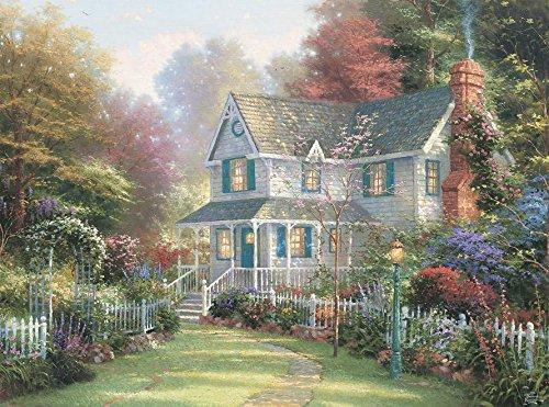Thomas Kinkade Victorian Garden - Ceaco Thomas Kinkade - Victorian Garden II, 1000Piece Puzzle