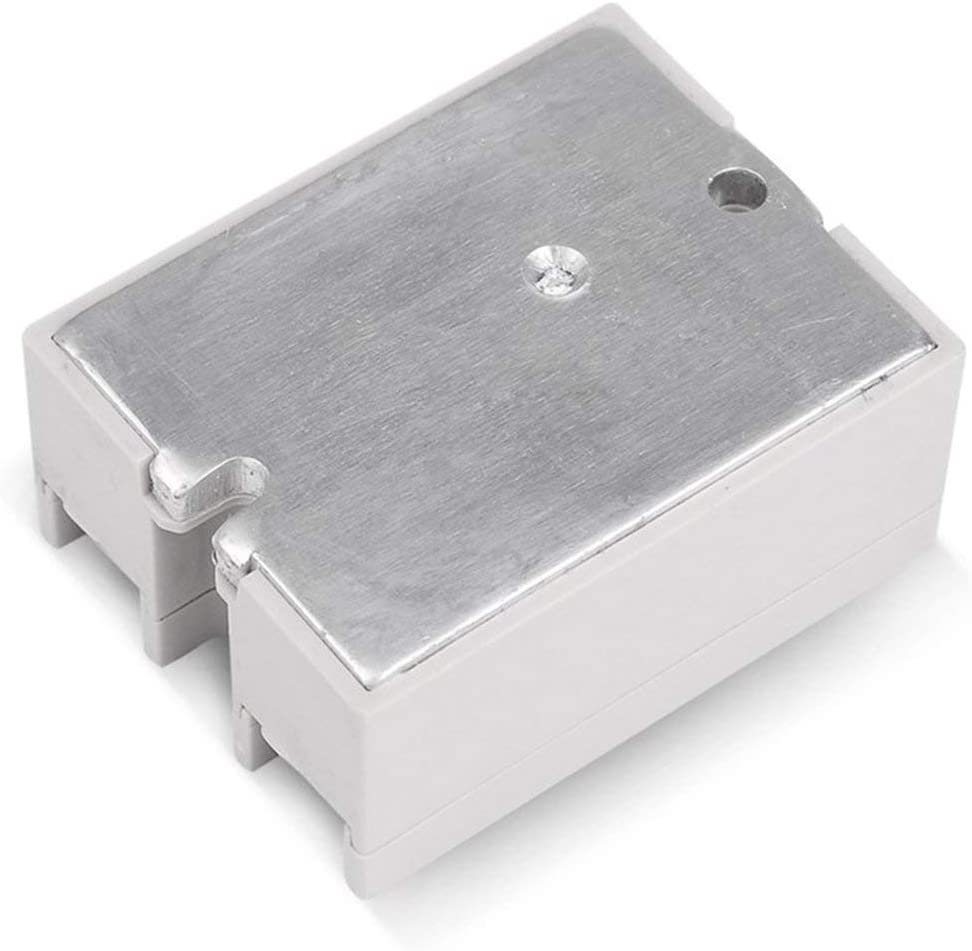 Blanc BCVBFGCXVB Relais /à semi-conducteurs DC-AC 10A 25A 40A 60A 80A 100A 12V 3-32V DC /À 220V 24-380V AC Charge SSR monophas/é pour contr/ôle de temp/érature