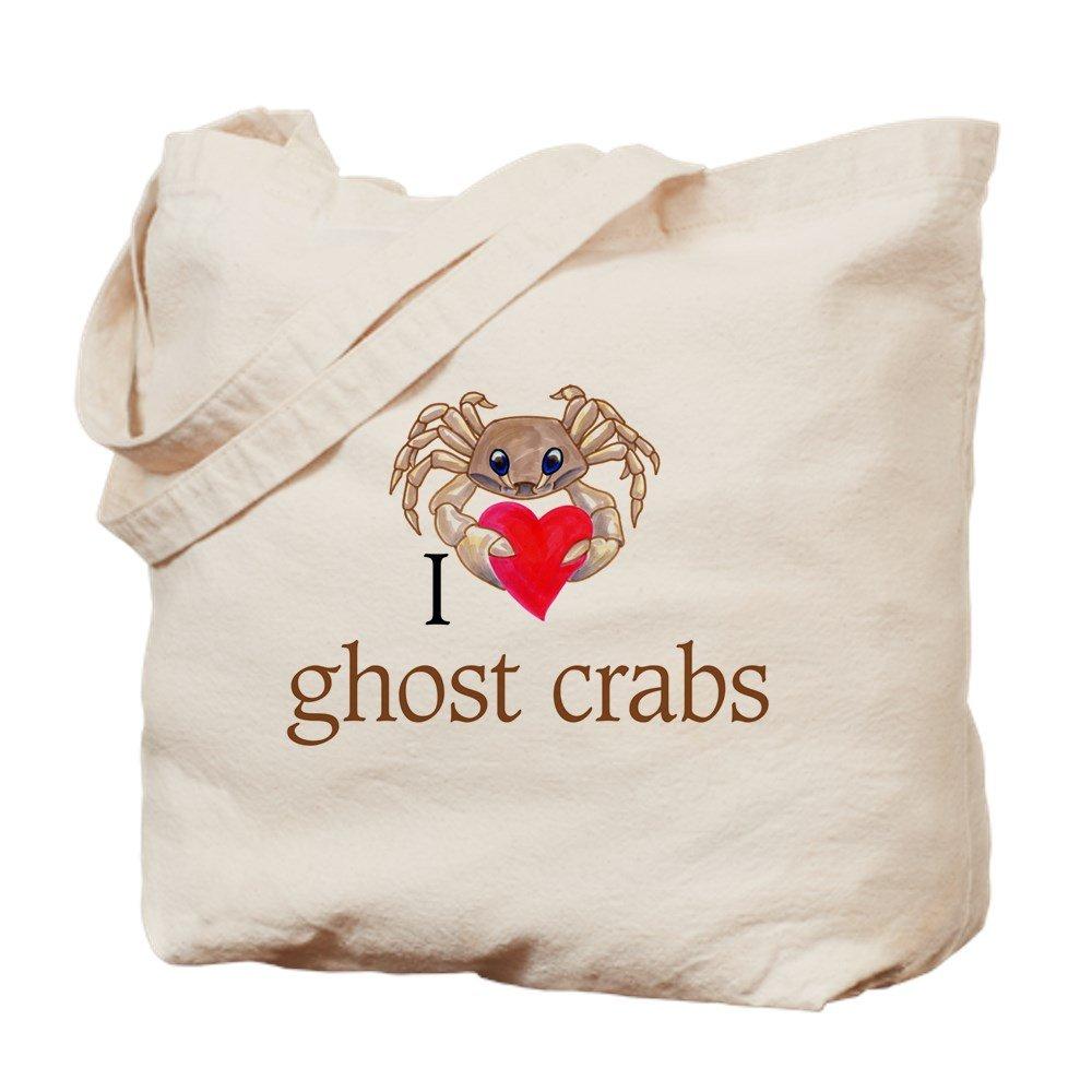 CafePress – I HeartゴーストCrabs – ナチュラルキャンバストートバッグ、布ショッピングバッグ B06WGVGG9M