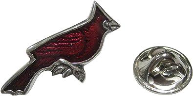 """Beautiful Red Cardinal Bird Metal Button 1/"""" x 7//8/"""""""