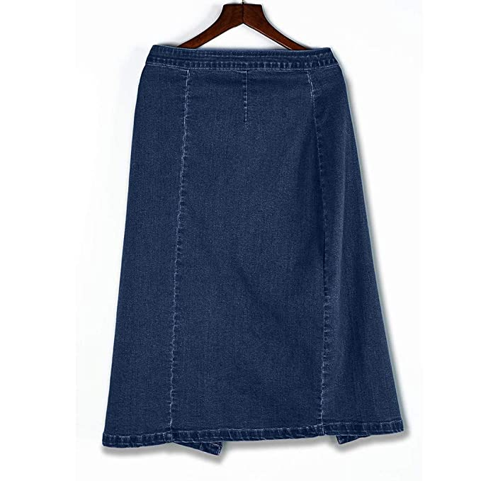 Amazon.com: Falda de mezclilla para mujer, de talle alto ...