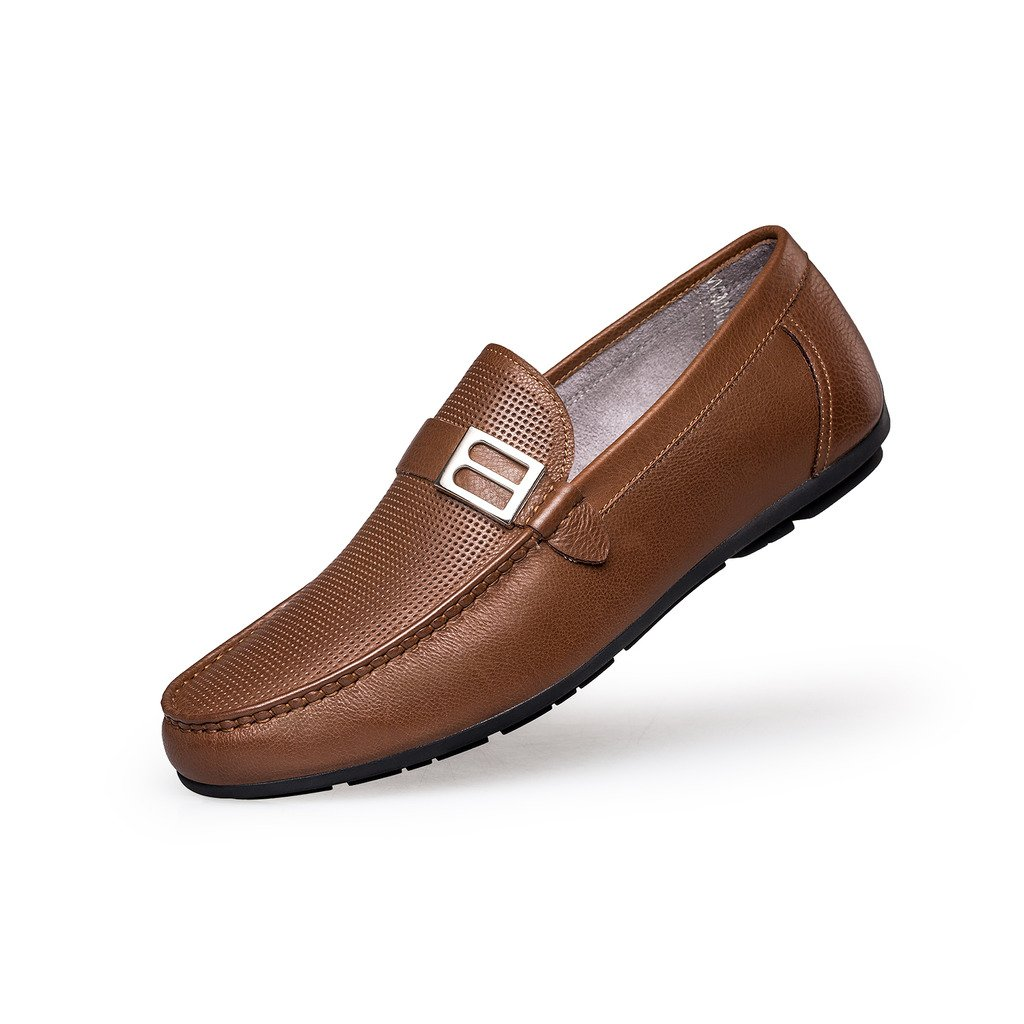 ZRO Men's Summer Casual Buckle Slip-On Hollow Breathable Brown US 8.5