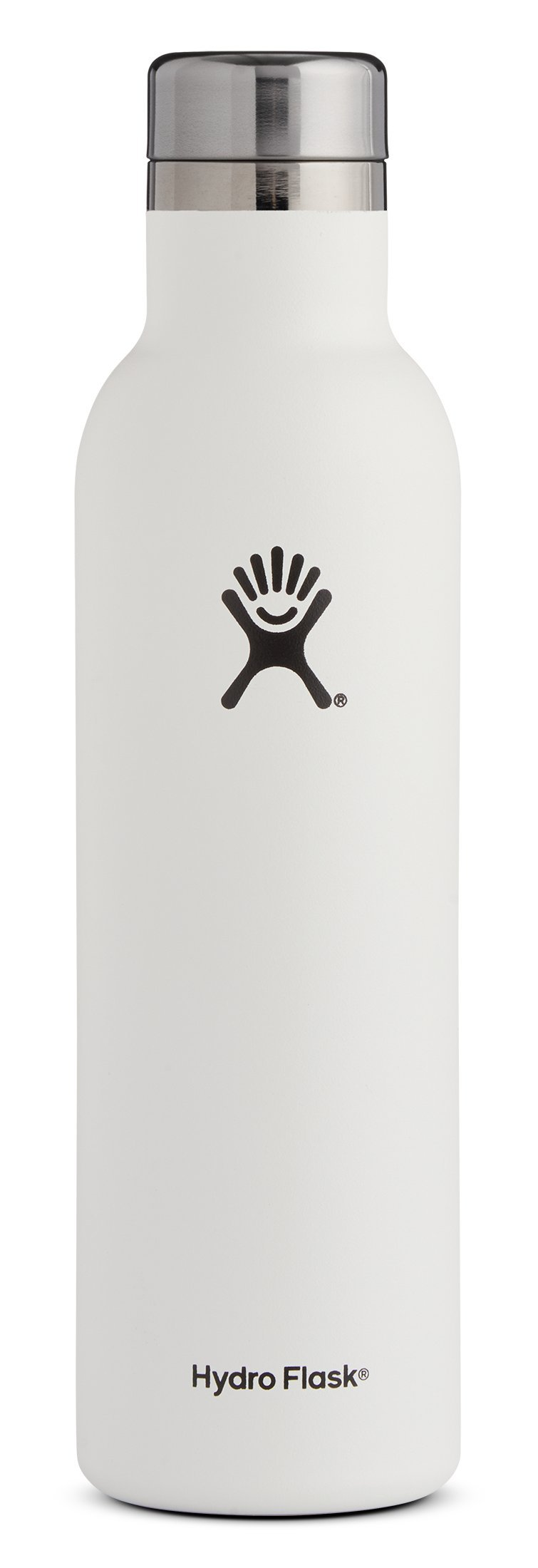 Hydro Flask 25 oz Double Wall Vacuum Insulated Stainless Steel Leak Proof Wine Bottle with BPA Free Cap, White by Hydro Flask (Image #1)