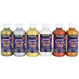 Sargent Art 22-6097 6 Count 8-Ounce Watercolor Magic Metallic Set, Assorted