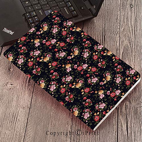 forSamsungGalaxyTabS3 9.7 T820 T825 Tablet Smart Cover Protective,Watercolor,Victorian Romantic Garden with Blossoming Roses Vintage Growth Soulful Bouquet Decorative,Multicolor - Victorian Watercolor