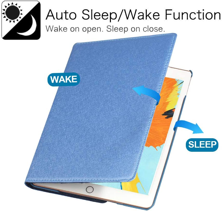 6th Gen, 5th Gen // iPad Air 2013 Model 360 Degree Rotating Stand Protective Cover with Auto Sleep Wake for Apple New iPad 9.7 inch iPad 9.7 2018//2017 iPad Air 2 Lotus iPad Air Case