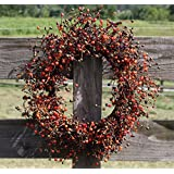 "Flora Decor Fall Berry Wreath Set - 2 Piece Set - 20""/15""- Autumn Berry"