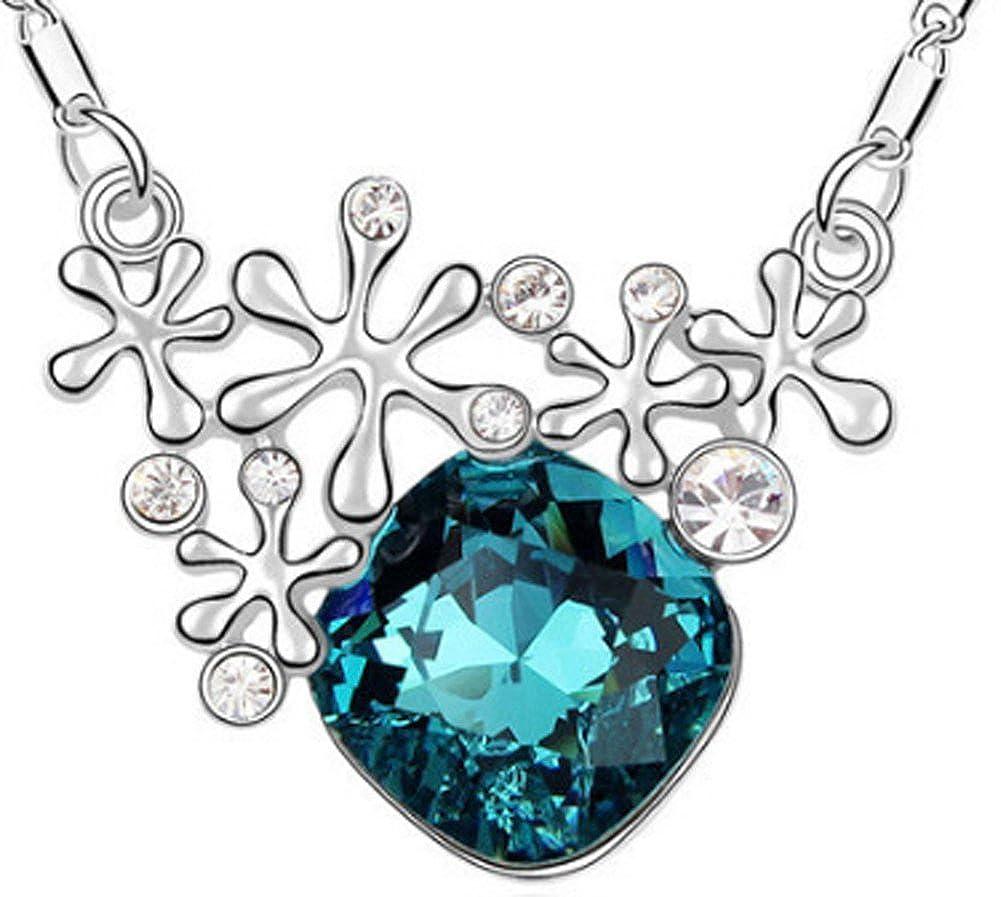 18K gold plated Rhinestone Korea Sunflower Crystal Necklaces AmaranTeen